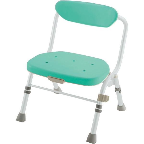 【送料無料】Richell(リッチェル) 折りたたみシャワーチェアR型 背付 グリーン 標準 [介護 福祉 医療 病院 介助 浴室 お風呂 おふろ]