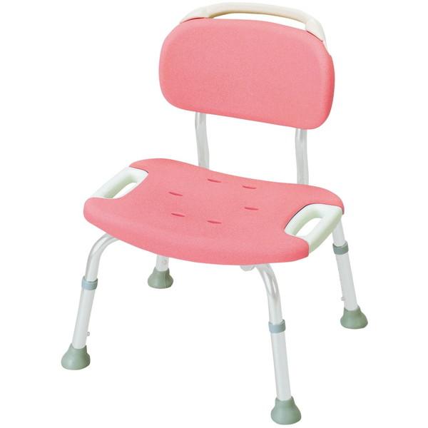 【送料無料】Richell(リッチェル) やわらかシャワーチェア 背付きワイド ピンク 標準タイプ [介護 福祉 医療 病院 介助 浴室 お風呂 おふろ]