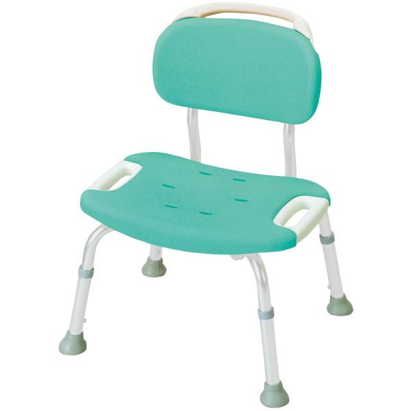 【送料無料】Richell(リッチェル) やわらかシャワーチェア 背付きワイド グリーン 標準タイプ [浴室 介護 福祉 医療 病院 介助]