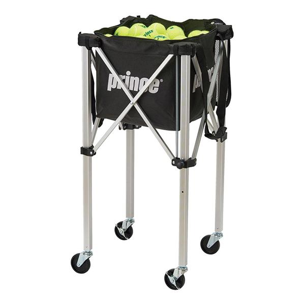 【送料無料】テニス ボールカゴ プリンス(prince) PL064 ロックピンボールバスケット BLK ブラック [テニスボールバスケット(ロックピンキャスター付)] テニス用品 ロックピンキャスター付
