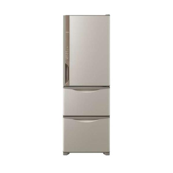 【送料無料】日立 R-K38JV(T) ライトブラウン [冷蔵庫(375L・右開き)] 【代引き・後払い決済不可】【離島配送不可】