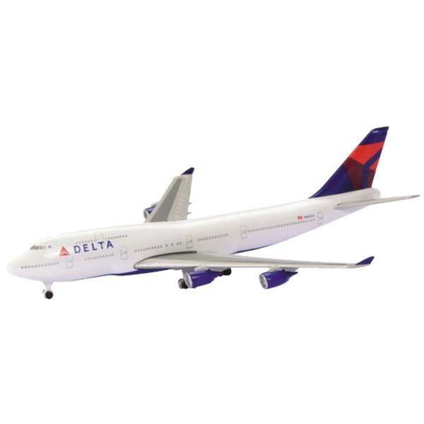 手頃な価格とスケールでモデル化された旅客機シリーズ シュコー B747-400 格安SALEスタート デルタ航空 限定特価 1 航空機モデル 600