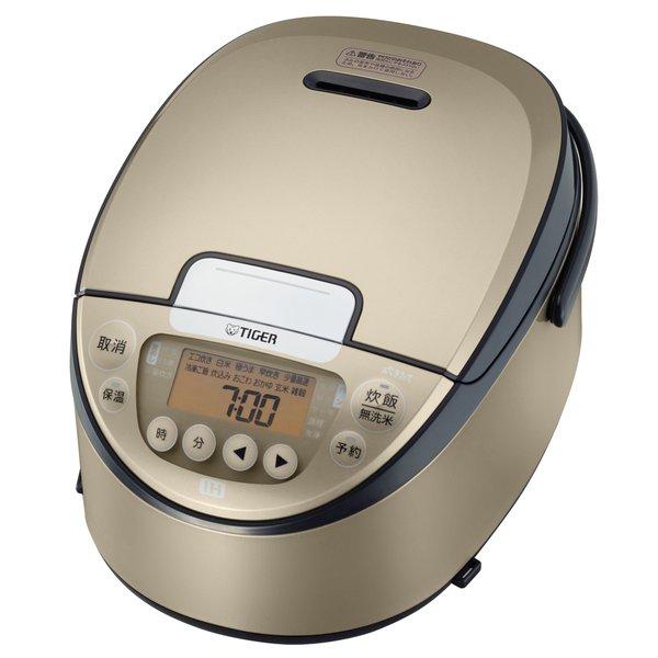遠赤3層土鍋コート釜 を採用したIHジャー炊飯器 TIGER JPW-A100 5.5合炊き IH炊飯器 炊きたて 時間指定不可 物品 シャンパンゴールド