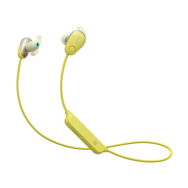 【送料無料】SONY WI-SP600N-YM イエロー SPシリーズ [Bluetoothイヤホン(カナル型・防滴・ノイズキャンセル対応)]
