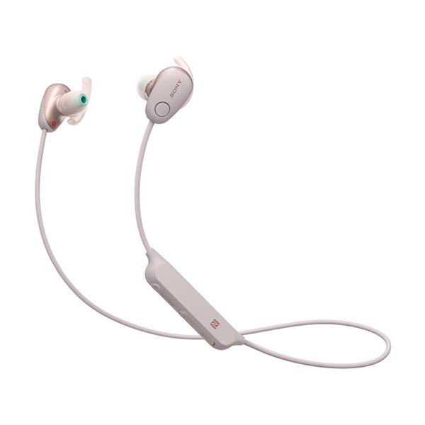 【送料無料】SONY WI-SP600N-PM ピンク SPシリーズ [Bluetoothイヤホン(カナル型・防滴・ノイズキャンセル対応)]