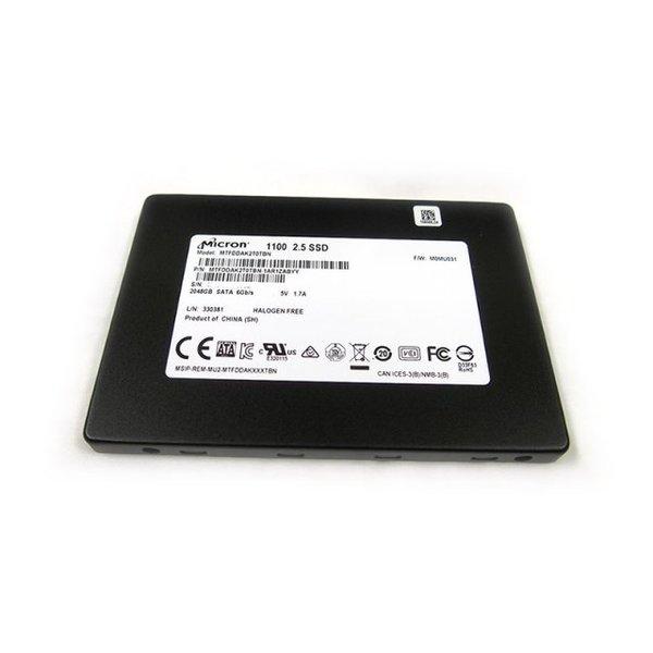【送料無料】Micron MTFDDAK2T0TBN-1AR1ZABYY 簡易パッケージ版 保証1年 [SSD2.5インチ(2TB・SATA3.0)]