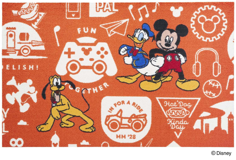 【送料無料】クリーンテックスジャパン Mickey ミッキーと仲間達 75×120cm [フロアマット 玄関マット エントランス デザインマット カーペット ラグ インテリア マット]【離島配送不可】
