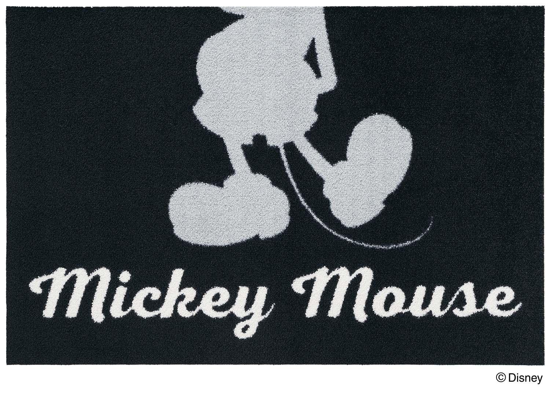 【送料無料】クリーンテックスジャパン Mickey ミッキー シルエット グレー 60×90cm [フロアマット 玄関マット エントランス デザインマット カーペット ラグ インテリア マット]【離島配送不可】