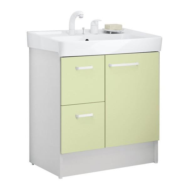 【送料無料】INAX D7H4-755SY1-W/HF2W ミントグリーン [洗面化粧台 (間口750 片引出タイプ)]