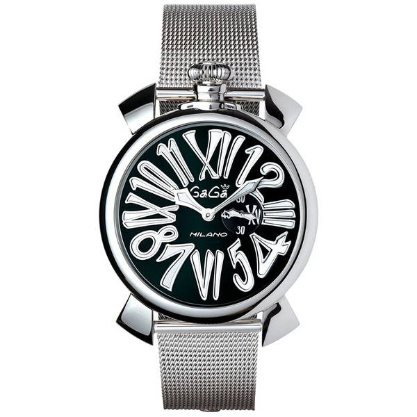 【】GAGA milano(ガガミラノ) 5080.2 MANUALE SLIM 46MM STEEL [クォーツ腕時計(ユニセックス)] 【並行輸入品】