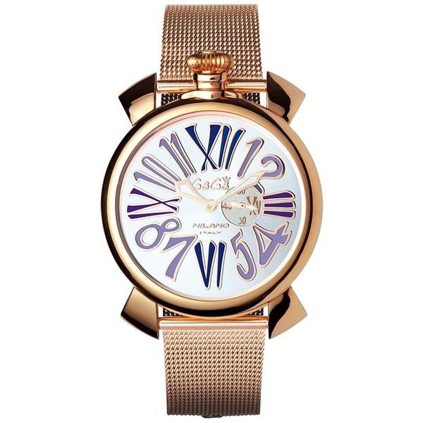 【】GAGA milano(ガガミラノ) 5081.3 MANUALE SLIM 46MM GOLD PLATE [クォーツ腕時計(ユニセックス)] 【並行輸入品】