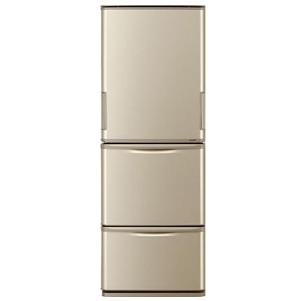 【送料無料】SHARP SJ-W352D ゴールド系 [冷蔵庫 (350L・左右フリー)] 【代引き・後払い決済不可】【離島配送不可】