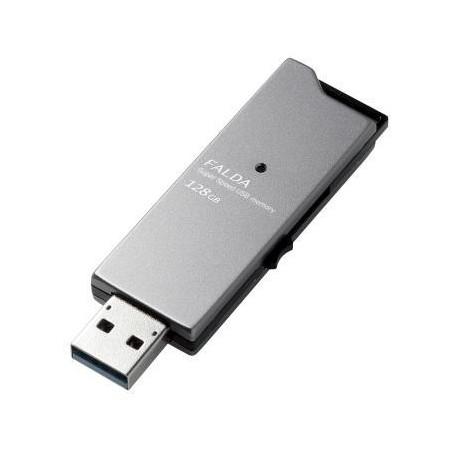 【送料無料】ELECOM MF-DAU3128GBK USBメモリー USB3.0対応 スライド式 高速 DAU 128GB ブラック【同梱配送不可】【代引き不可】【沖縄・離島配送不可】