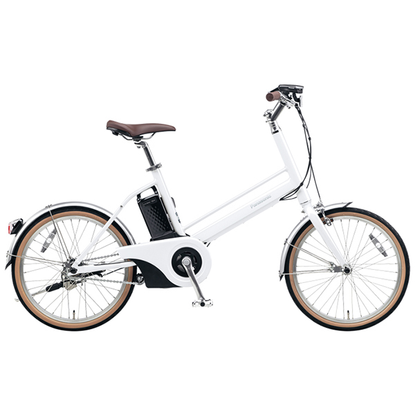 【送料無料】PANASONIC BE-JELJ01A-F クリスタルホワイト Jコンセプト [電動自転車(20インチ)]【同梱配送不可】【代引き不可】【本州以外配送不可】
