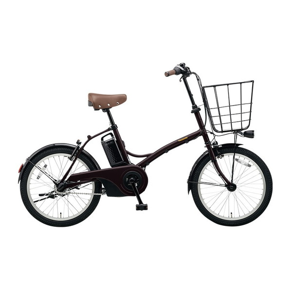 【送料無料】PANASONIC BE-ELGL033-T2 マットダークブラウン グリッター [電動自転車(20インチ・内装3段変速)]【同梱配送不可】【代引き不可】【本州以外配送不可】