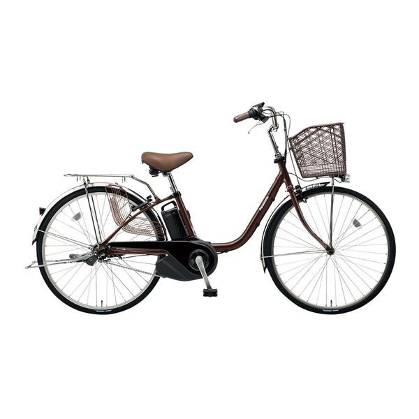 【送料無料】PANASONIC BE-ELSX43-T チョコブラウン ビビ・SX [電動自転車(24インチ・内装3段変速)]【同梱配送不可】【代引き不可】【本州以外配送不可】