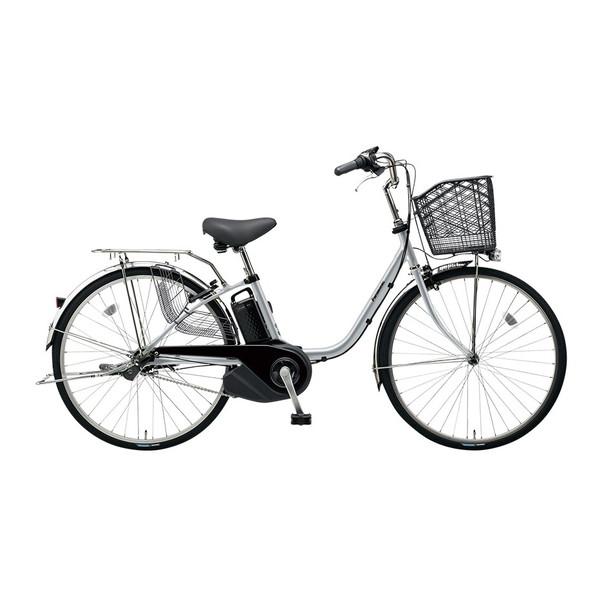 【送料無料】PANASONIC BE-ELSX63-S モダンシルバー ビビ・SX [電動自転車(26インチ・内装3段変速)]【同梱配送不可】【代引き不可】【本州以外配送不可】