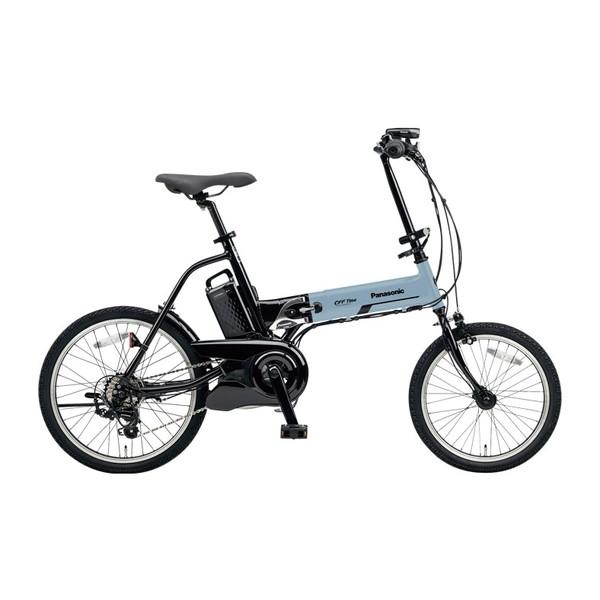 【送料無料】PANASONIC BE-ELW072A-V2 ブルーグレー×ブラック オフタイム [電動自転車(18/20インチ・外装7段変速)]【同梱配送不可】【代引き不可】【本州以外配送不可】