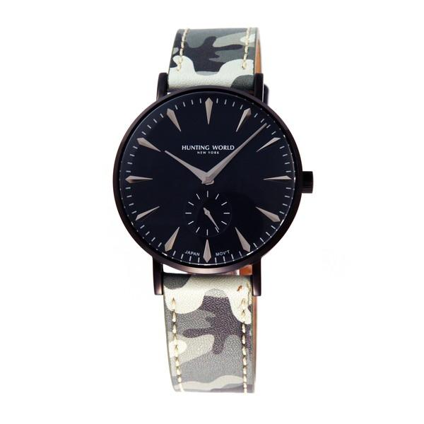 【送料無料】HUNTING WORLD AUSTERE オースティア HW950BBK ブラック×グレー迷彩 [クォーツ腕時計 (メンズウオッチ)]