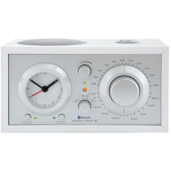 【送料無料】Tivoli Audio M3BT-1774-JP Tivoli Model Three BT White/Silver [アラームクロック付き AM/FMテーブルラジオ]