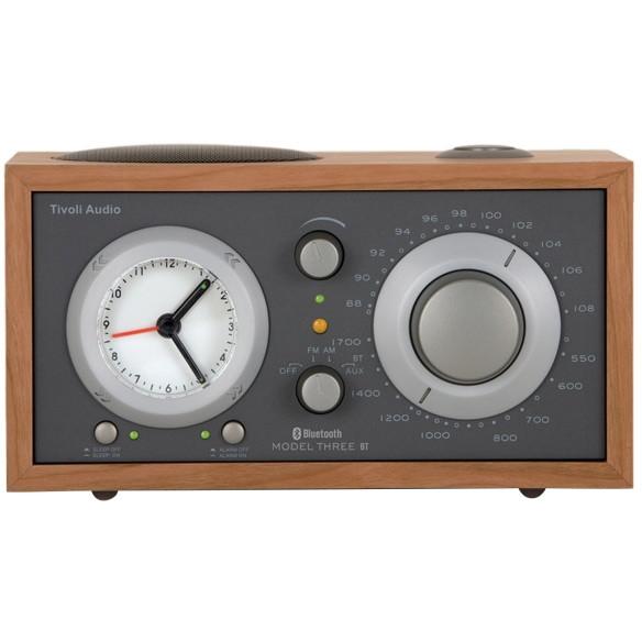 【送料無料】Tivoli Audio M3BT-1776-JP Tivoli Model Three BT Taupe/Cherry [アラームクロック付き AM/FMテーブルラジオ]