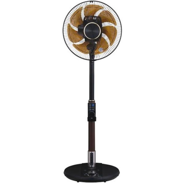 【送料無料】ユアサプライムス YT-DVJH3427YFR-K ブラック 扇風機 DCモーター 音声 音声操作 イオニシモ 消臭 熱中症対策 8の字立体首振り 首振り 静音 風量32段階