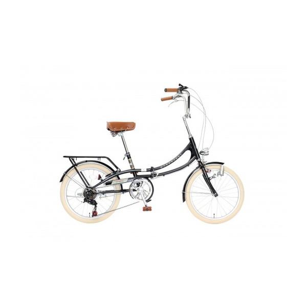 【送料無料】TOP ONE FLM206-76-BK ブラック Classical [折りたたみ自転車(20インチ・6段変速)]【同梱配送不可】【代引き不可】【沖縄・北海道・離島配送不可】