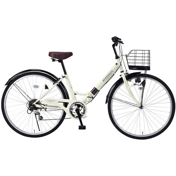 【送料無料】マイパラス M-507-IV アイボリー [折りたたみシティ自転車(26インチ・6段変速)]【同梱配送不可】【代引き不可】【本州以外配送不可】
