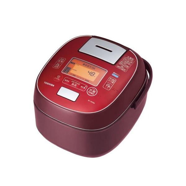 【送料無料】東芝 RC-10VSM-RS ディープレッド 圧力+真空 合わせ炊き [真空圧力IHジャー炊飯器 (5.5合炊き)]