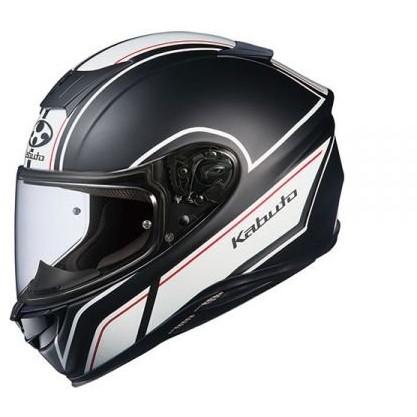 【送料無料】OGK KABUTO AEROBLADE-5 SMART フラットブラックホワイト L [フルフェイスヘルメット]