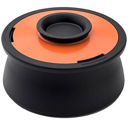 穴織カーボン VO001SO スパニッシュオレンジ ボリューム [カーボンポット(両手鍋・2.1L)] 日雑