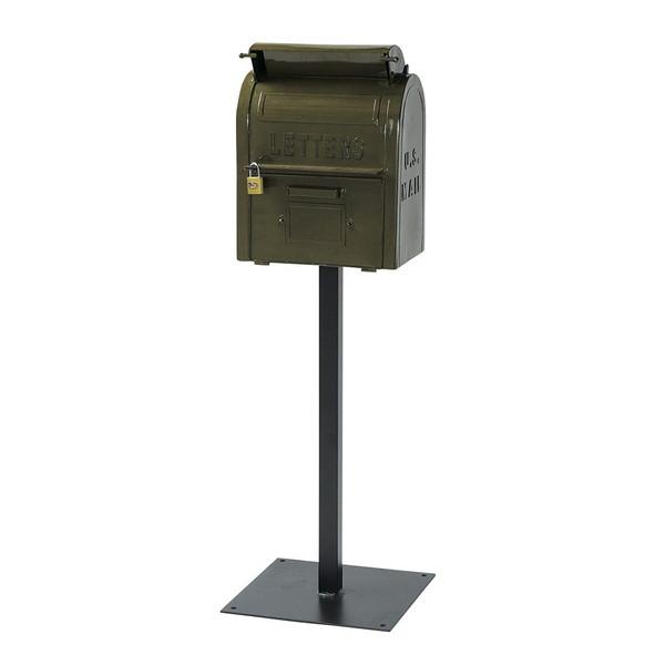 【送料無料】セトクラフト SI-2855-GR グリーン U.S.MAIL BOX [スタンドポスト] 【同梱配送不可】【代引き・後払い決済不可】【沖縄・北海道・離島配送不可】