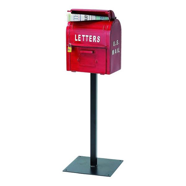【送料無料】セトクラフト SI-2855-RD レッド U.S.MAIL BOX [スタンドポスト] 【同梱配送不可】【代引き・後払い決済不可】【沖縄・北海道・離島配送不可】