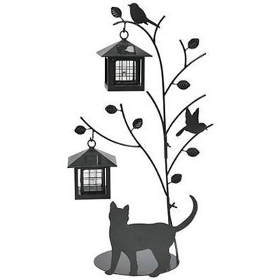 【送料無料】セトクラフト SI-1956 [シルエットソーラー2灯 (Tree&Cat)]