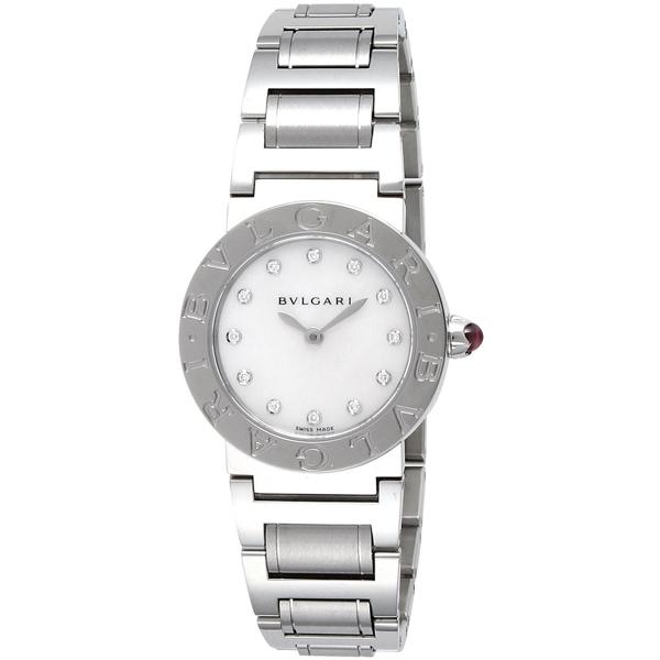 【送料無料】BVLGARI BBL26WSS/12 ブルガリブルガリ 12Pダイヤ ステンレス ホワイト/シルバー [腕時計 レディース] 【並行輸入品】