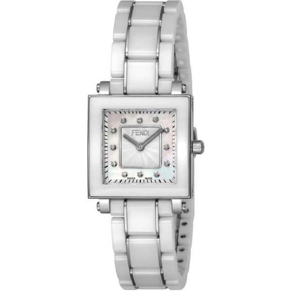 【送料無料】FENDI F622240BD ホワイトパール クアドロ セラミック [クォーツ腕時計(レディースウオッチ)] 【並行輸入品】