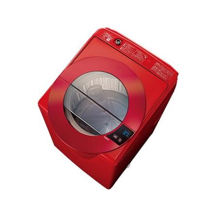 【送料無料】AQUA AQW-LV80G-R シャイニーレッド [簡易乾燥機能付洗濯機(8.0kg)]