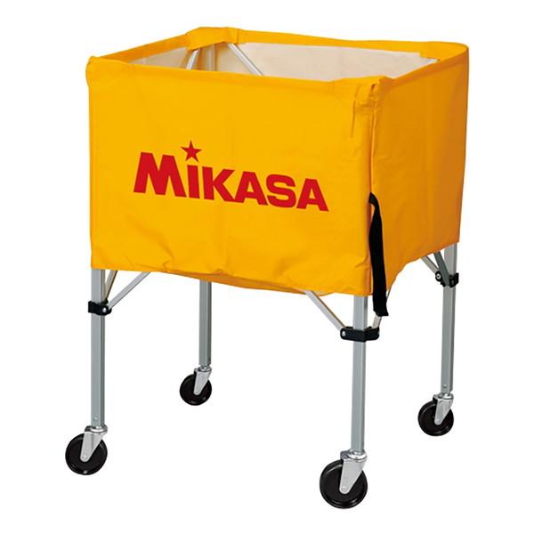 【送料無料】MIKASA BC-SP-HL Y [ボールカゴ3点セット 大型キャスター付 イエロー]