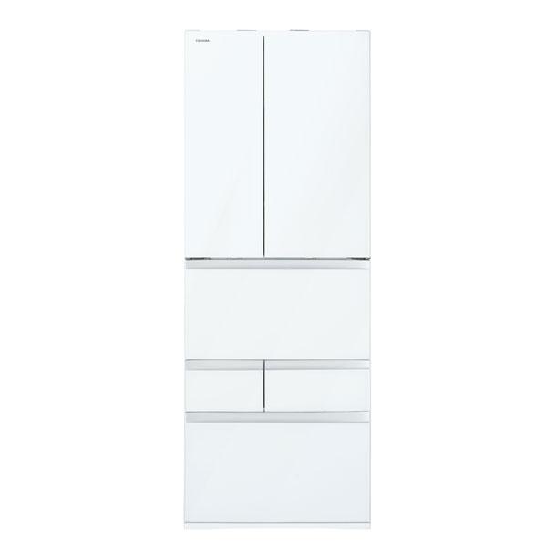 【送料無料】東芝 GR-P600FW(UW) クリアグレインホワイト VEGETA(べジータ) [冷蔵庫 (601L・フレンチドア)]