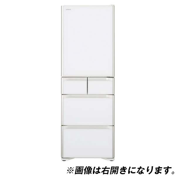 【送料無料】日立 R-S50JL(XW) クリスタルホワイト 真空チルド [冷蔵庫 (501L・左開き)]