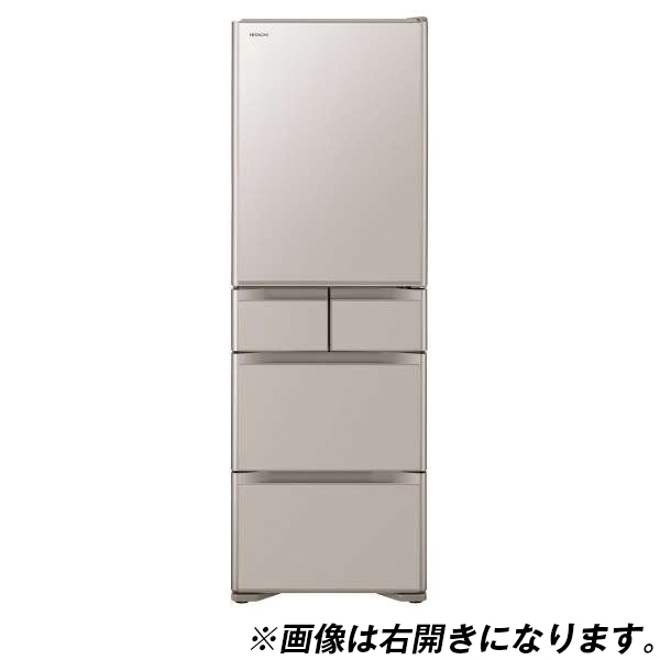 【送料無料】日立 R-S40JL(XN) クリスタルシャンパン 真空チルド [冷蔵庫 (401L・左開き)]