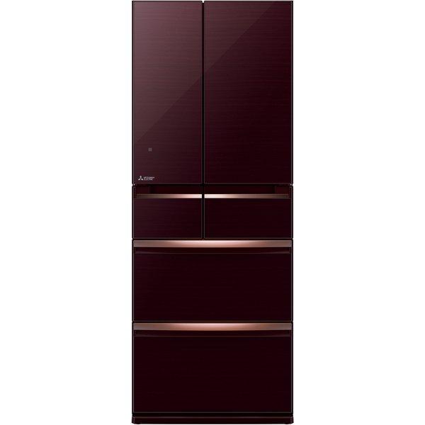 【送料無料】MITSUBISHI MR-WX47LD-BR クリスタルブラウン 置けるスマート大容量WXシリーズ [冷蔵庫(470L・フレンチドア)]