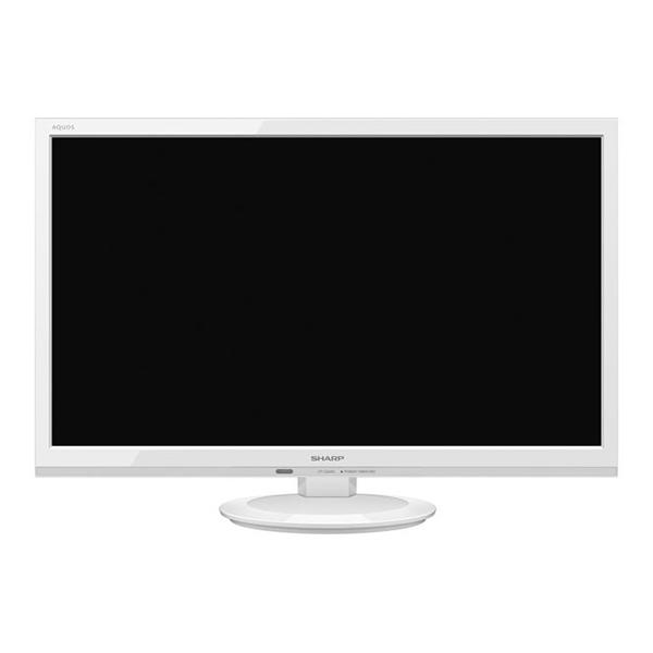 【送料無料】SHARP 2T-C24AD-W ホワイト AQUOS [24V型 地上・BS・110度CSデジタルハイビジョン LED液晶テレビ]