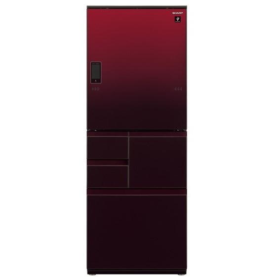【送料無料】SHARP SJ-WX55E-R グラデーションレッド [冷蔵庫 (551L・左右フリー)]