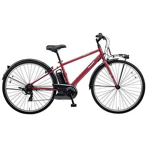 【送料無料】PANASONIC BE-ELVS77-R ワインレッド ベロスター [電動スポーツバイク(700×38C・外装7段)]【同梱配送不可】【代引き不可】【本州以外配送不可】
