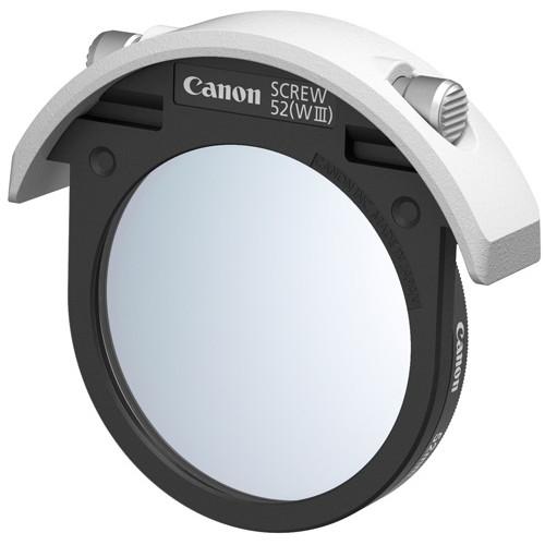 【送料無料】CANON 52(WIII)52mmプロテクトフィルター付 [ドロップインスクリューフィルターホルダー]