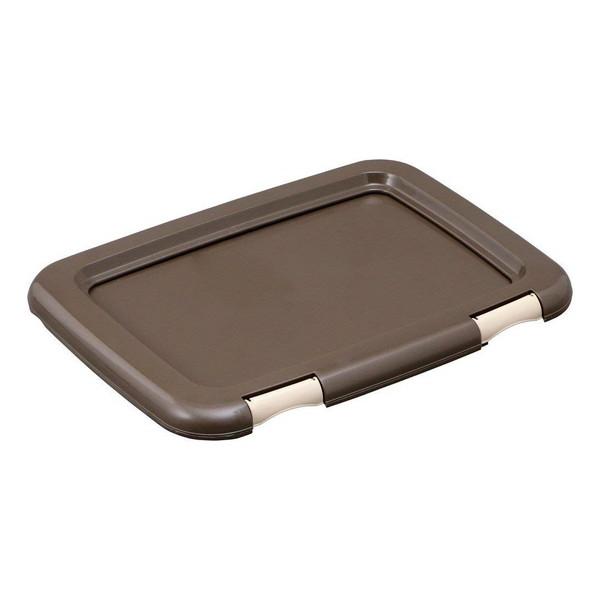 トイレシーツを固定できる ペット用のトイレトレーです アイリスオーヤマ 受賞店 大幅にプライスダウン FMT-485 レギュラーサイズ ブラウン フチもれしにくいトレーニングペットトレー