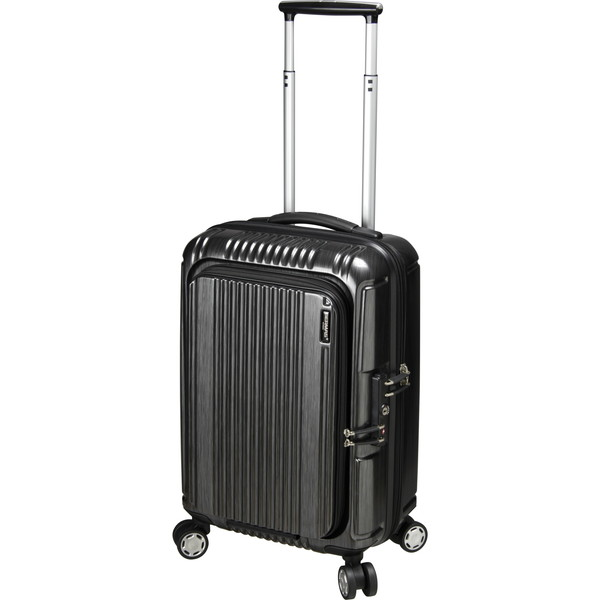 【送料無料】BERMAS PRESTIGE2 フロントオープン49c(スーツケース) 60261-10 ブラック 【機内持込対応可】容量:34L