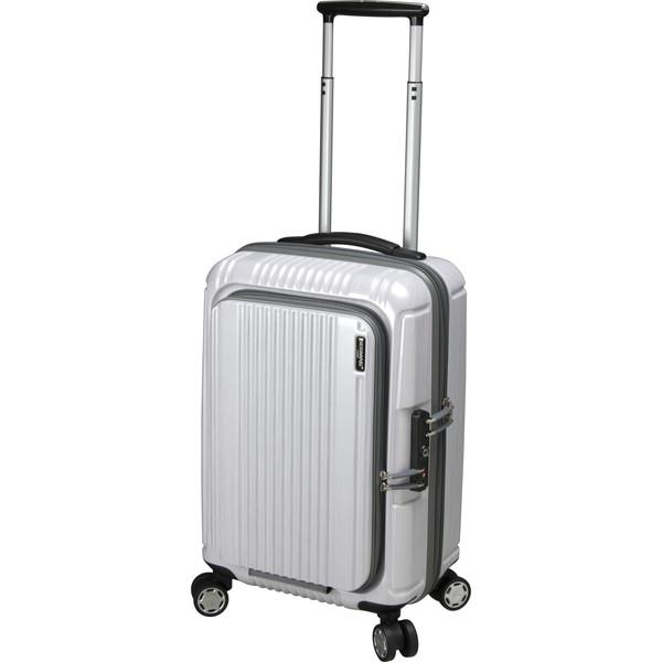 【送料無料】BERMAS PRESTIGE2 フロントオープン49c(スーツケース) 60261-20 ホワイト 【機内持込対応可】容量:34L