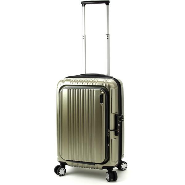 【送料無料】BERMAS PRESTIGE2 フロントオープン49c(スーツケース) 60261-23 ゴールド 【機内持込対応可】容量:34L